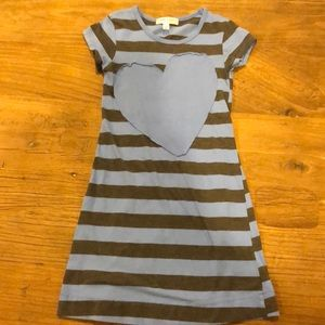 Joah Love Girls Striped Heart Dress - Size 5 db75bc898